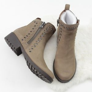 Lucky Brand Brindle Hannie Soft Leather Booties